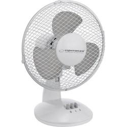Esperanza EHF004WE, ZEPHYR 9 '' desk fan, White-Gray