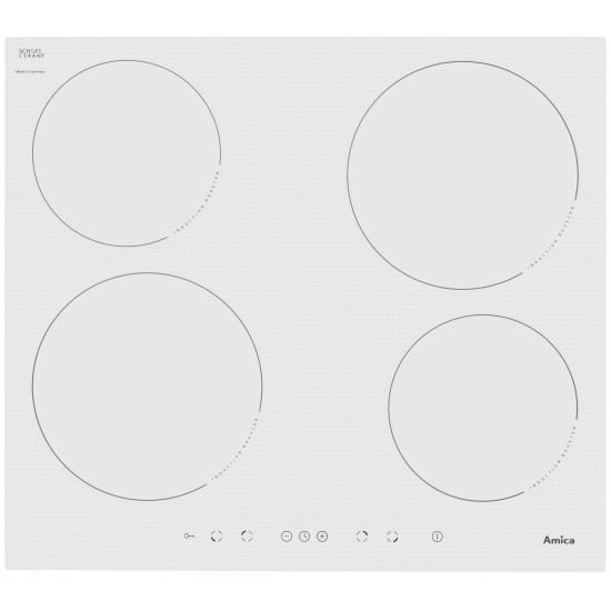 Amica PI6140PWTU hob White Built-in Zone induction hob 4 zone(s)