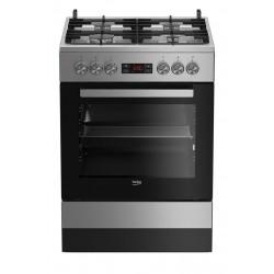 Beko FSM 62332 DXT Freestanding cooker Stainless steel Gas A