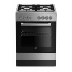 Beko FSE62120DX cooker Freestanding cooker Black,Grey Gas A