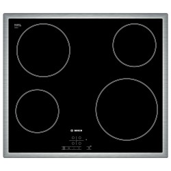 Bosch PKE645B17E hob Black,Stainless steel Built-in Ceramic 4 zone(s)
