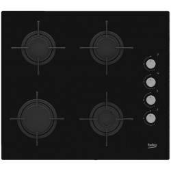 Beko HILG64120S hob Black Built-in 60 cm Gas 4 zone(s)