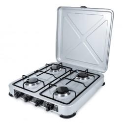 PROMIS KG400 Four-burner gas stove silver