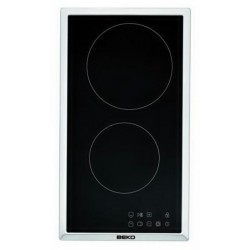 Beko HDMC 32400 TX hob Stainless steel built-in Ceramic 2 zone(s)