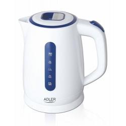 Adler AD 1234 electric kettle 1.7 L Blue,White 2200 W
