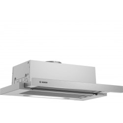 Bosch Serie 4 DFT63AC50 cooker hood 360 m³/h Semi built-in (pull out) Silver D