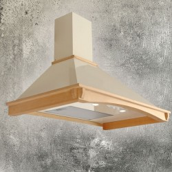 Akpo WK-4 Rustica Country 450 m³/h Wall-mounted Beige, Wood