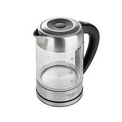 Adler AD 1247 NEW electric kettle 1.7 L Hazelnut,Stainless steel,Transparent 2200 W